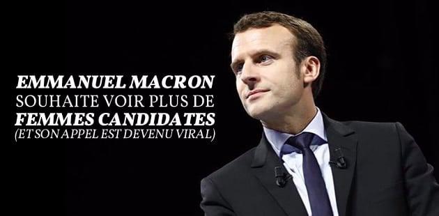 Emmanuel Macron souhaite voir plus de femmes candidates… et comprend ce qui les retient vraiment
