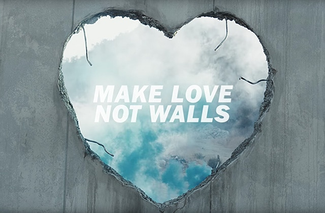 Diesel sort sa campagne de pub qui redonne foi en l'amour, « Make Love, Not Walls »