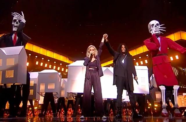 Katy Perry passe en mode dénonciation politique lors des Brit Awards