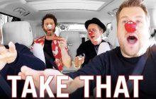 James Corden embarque Take That pour un Carpool Karaoké très british, pour la bonne cause!