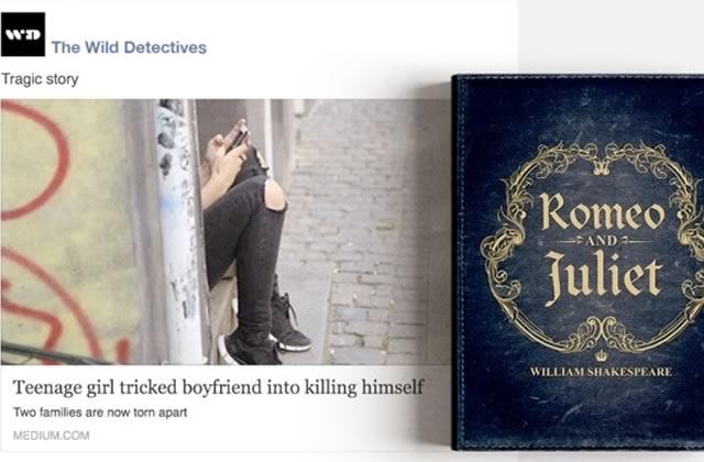 «Une ado malhonnête pousse son petit ami au suicide»et autres clickbait littéraires