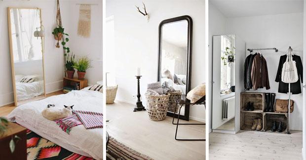 miroirs dans un appartement
