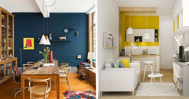 appartements murs colores
