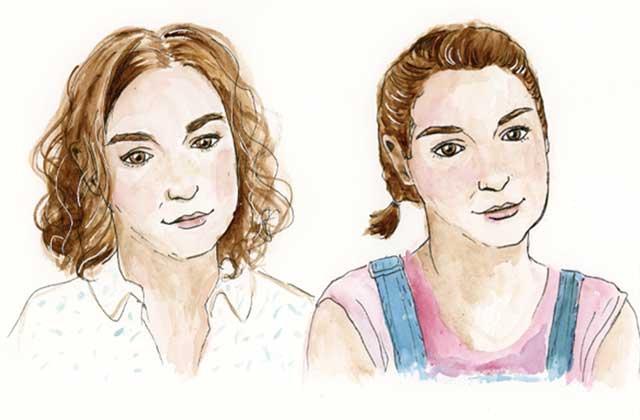 Les héroïnes de Girls, du premier au dernier épisode, illustrées par Léa Castor