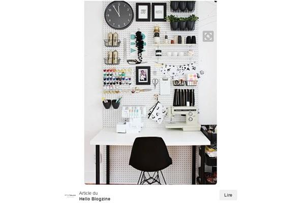 Comment organiser son espace diy avec des astuces pinterest for Bien organiser son bureau