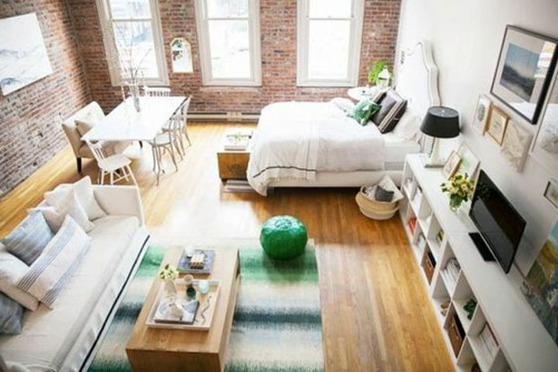 cr er une chambre dans un studio trucs astuces d co. Black Bedroom Furniture Sets. Home Design Ideas