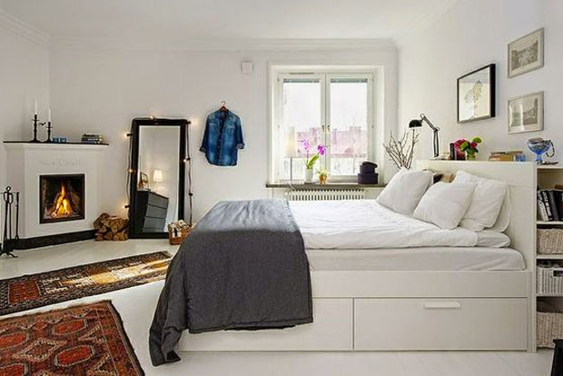 cr er une chambre dans un studio trucs astuces d co. Black Bedroom Furniture Sets. Home Design Ideas