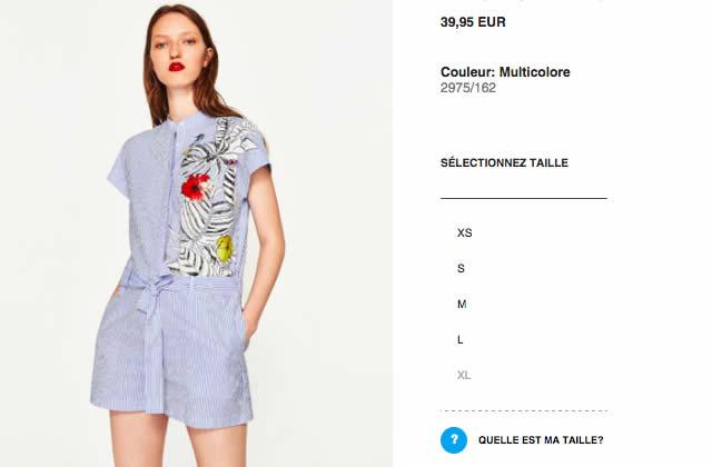 Zara présente une solution pour être sûre de choisir la bonne taille sur son e-shop!