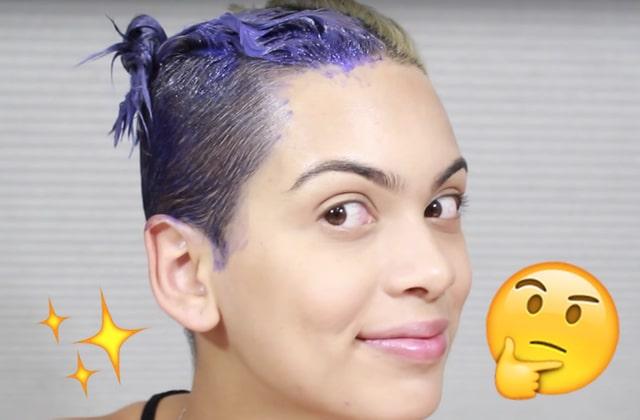 Comment enlever couleur bleu cheveux
