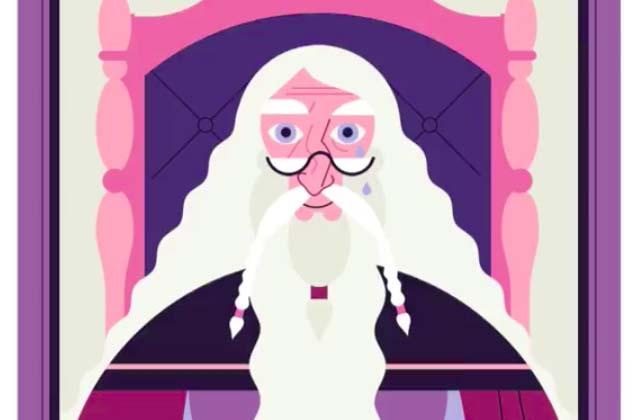 Dumbledore, sa vie, son œuvre, dans une infographie animée