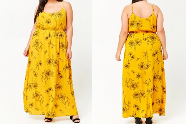 forever 21 robe grande taille longue