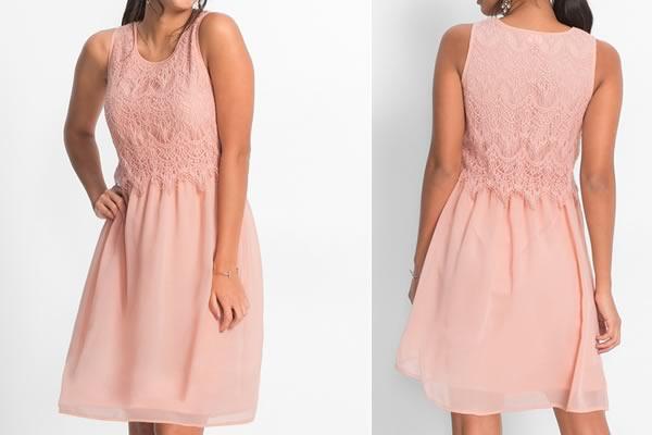 robe rose dentelle bonprix