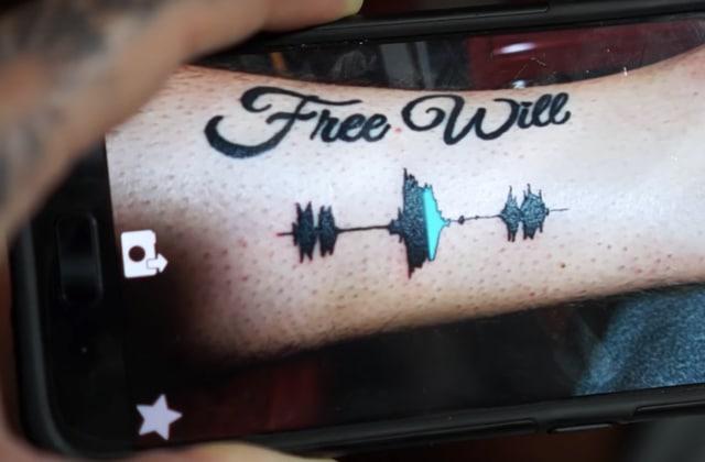 Vous pouvez écouter ce tatouage du futur grâce à une application!