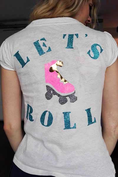 customiser t shirt avec paillettes thermocollantes