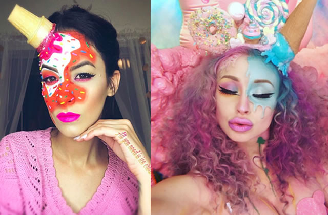 Le « Ice Cream Makeup » fait son entrée sur Instagram, intolérants au lactose s'abstenir !