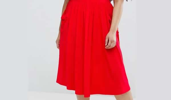 jupe-grande-taille-rouge