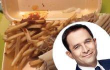 Benoît Hamon et son kebab VS Emmanuel Macron et son portrait