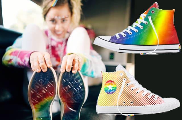 Miley Cyrus collabore aux côtés de Converse pour le Pride Month