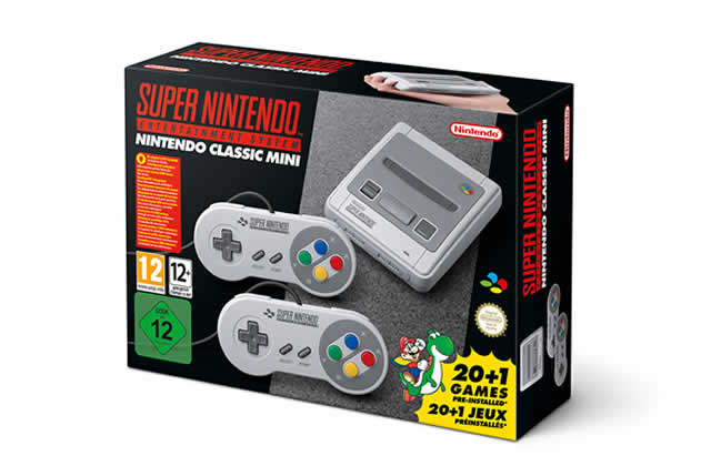 La Super Nintendo, console légendaire, arrive en version mini !