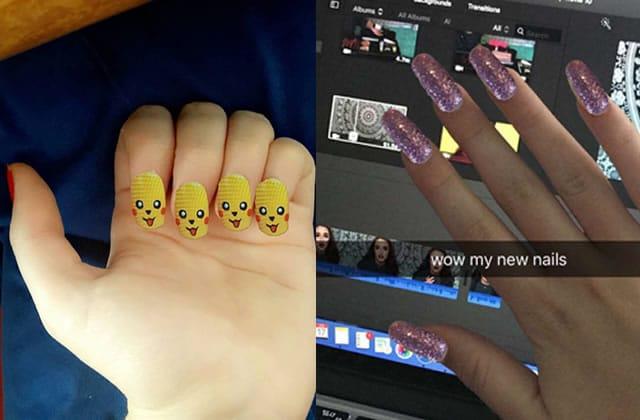 Le hack du jour: utiliser les autocollants Snapchat pour choisir sa couleur de vernis