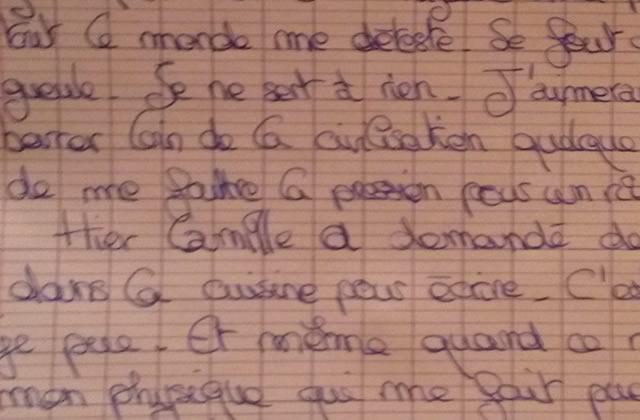 J'ai décidé de répondre à mon journal intime de quand j'avais 16ans