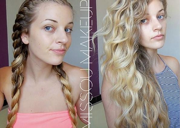 Boucler cheveux longs fins