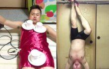 Avez-vous déjà vu… le mec qui arrache une nappe de son corps sans faire tomber ce qu'il y a dessus?