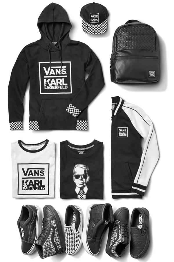 Vans et Karl Lagerfeld collaborent sur une collection chic