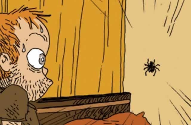 Le cauchemar des arachnophobes parfaitement illustré par Boulet