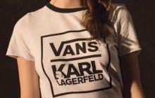 Vans se la joue col blanc et lunettes noires dans une collaboration avec Karl Lagerfeld
