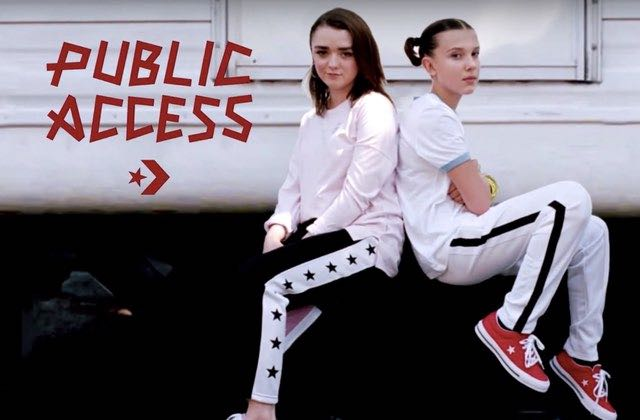 Maisie Williams (Arya) au cœur d'un groupe de cool kids pour Converse Public Access !