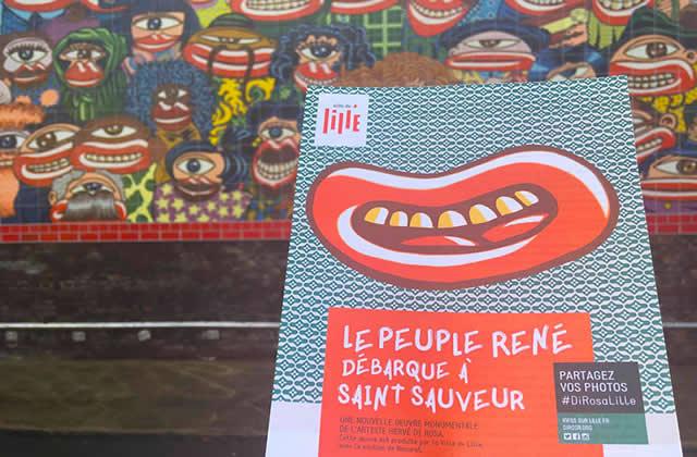 L'artiste Hervé di Rosa crie son amour pour les Lillois sur les murs de la ville !