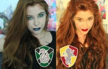 Des maquillages inspirés de Serdaigle, Poufsouffle, Serpentard et Gryffondor pour notre Grosse Teuf