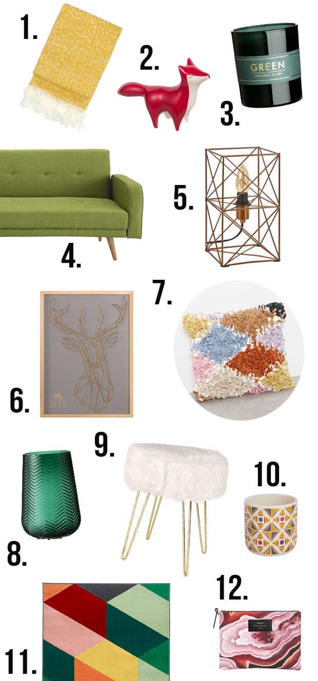 Décoration automne 2017 : sélection shopping —