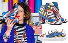 Les motifs qui claquent de Camille Walala s'invitent dans une collectionSarenza