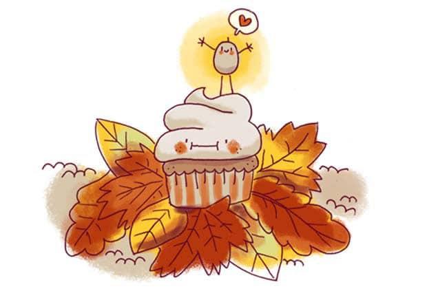 Cupcakes d'automne à la crème de marrons—La recette illustrée!