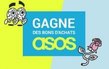 Cinq bons d'achats de 50€ chez ASOS à gagner pour les étudiantes!