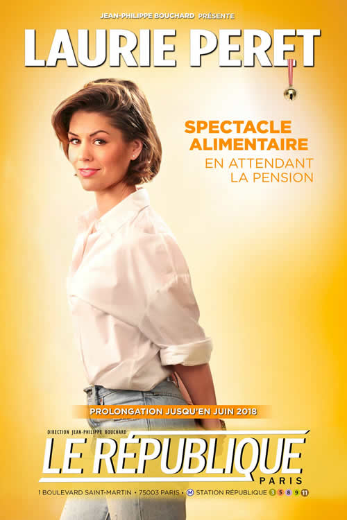 laurie peret affiche spectacle pension alimentaire