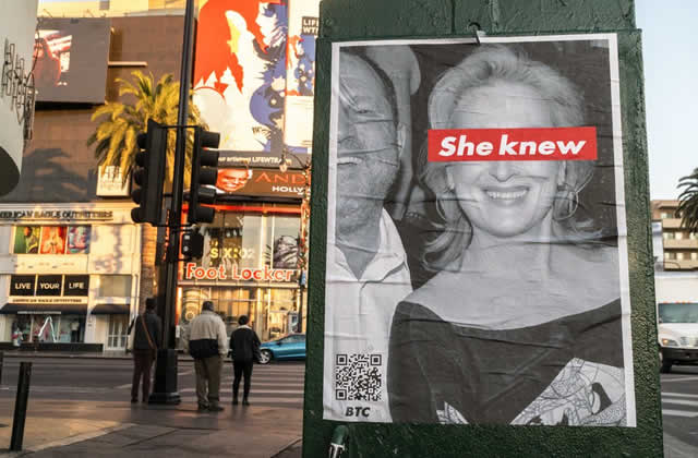 Derrière les affiches #SheKnew liant Meryl Streep et Weinstein, une odeur nauséabonde
