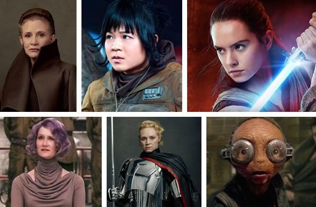 Les femmes de Star Wars: Les Derniers Jedi, toutes plus cool les unes que les autres