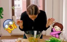 La femme qui cuisine en prémâchant les aliments, l'angoisse totale (et virale)