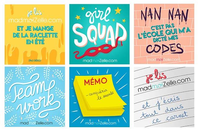 Commandez vos stickers madmoiZelle 2018!