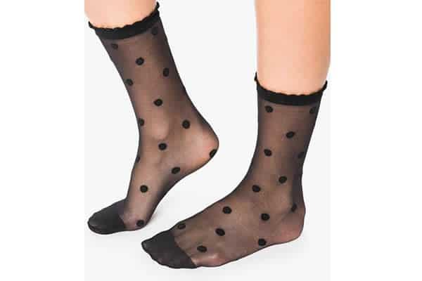 chaussettes à pois transparentes Gémo