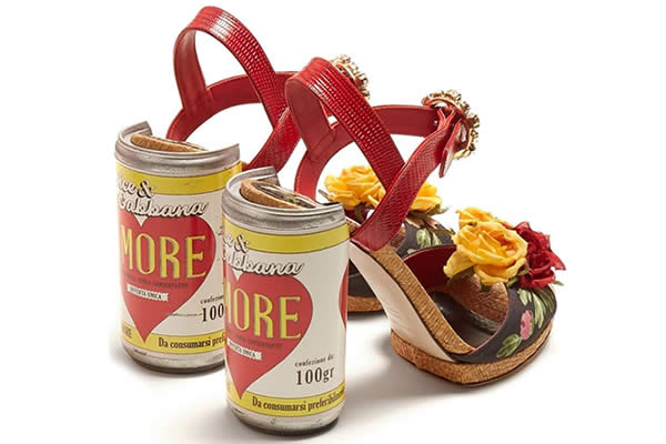 sandales dolce & gabbana canettes
