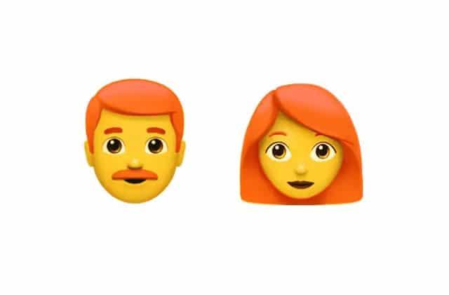 Les emojis roux sont enfin disponibles!