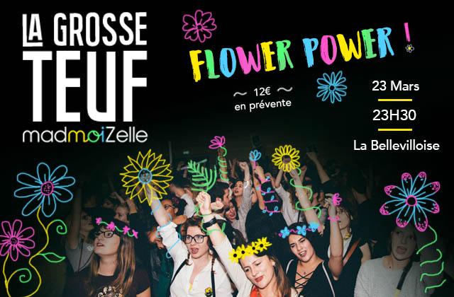 Chope ta place en prévente pour la GROSSE TEUF Flower Power, ce vendredi à la Bellevilloise!