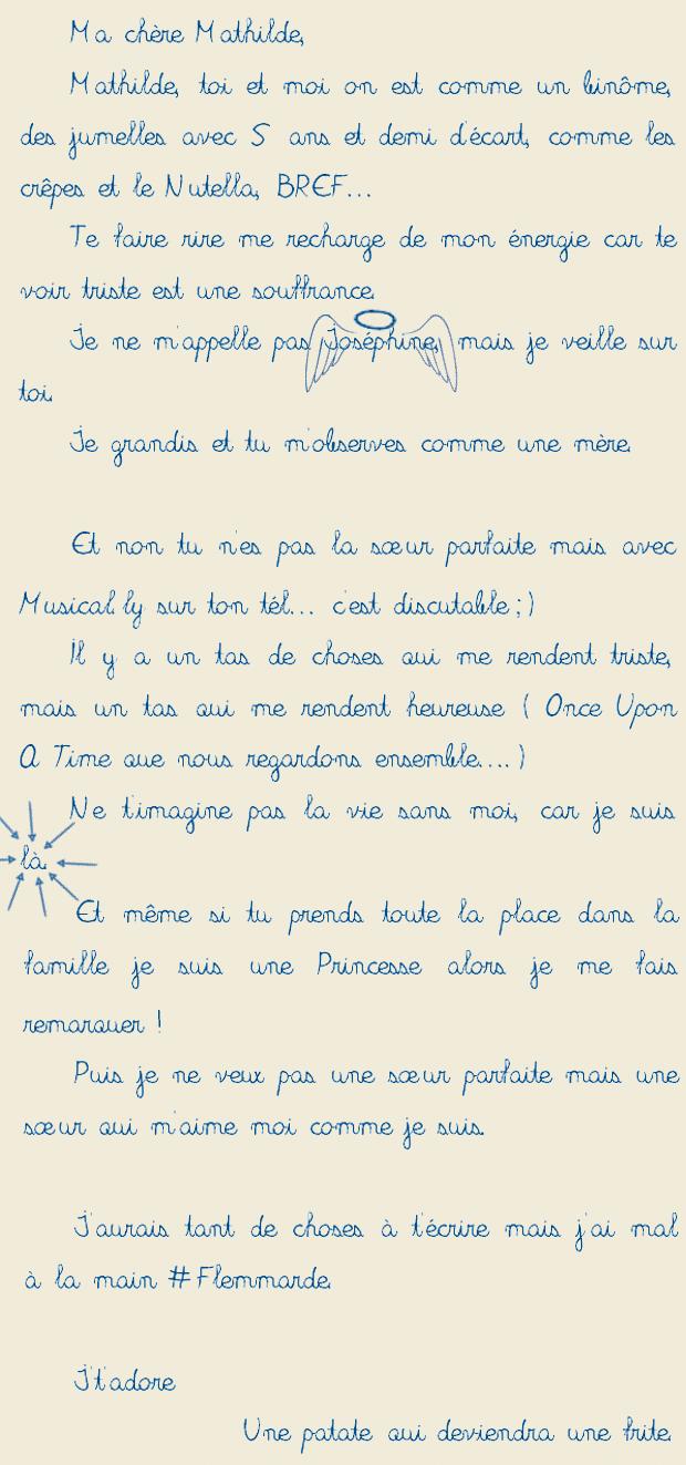 Lettre Damour à Ma Petite Soeur Et Sa Réponse Madmoizelle