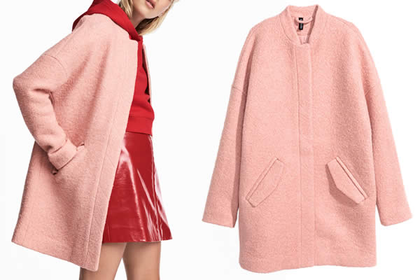 manteau h&m rose promotion