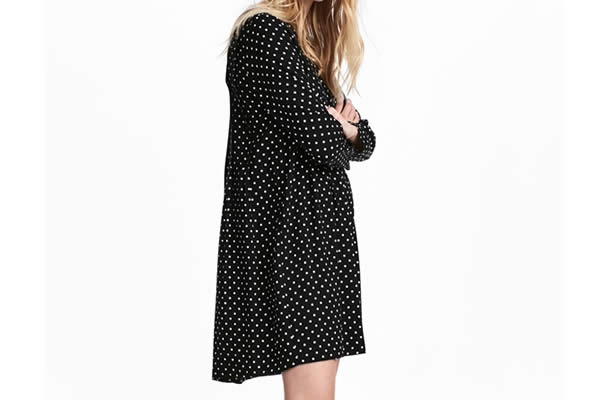 robe à pois H&M