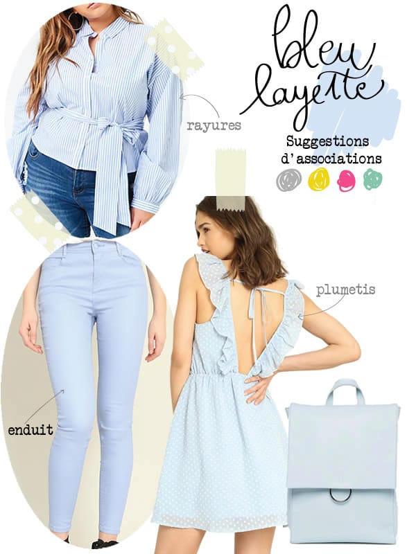 vêtements bleu clair